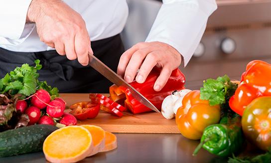 verduras del restaurante
